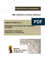 UF2. Maquinas Electricas. Problemas. v. 2.2 M09-EEA0 2015-16