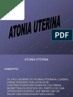 ATONIA UTERINA ..ppt.pps
