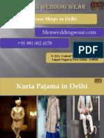 Sherwani Shops in Delhi