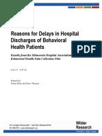 MHA Mental Health Avoidable Days Study Report July 2016