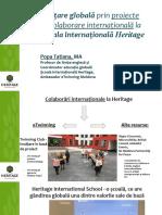 Colaborare Internationala La Heritage