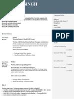 Resume Format - Standard