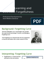 increase learning and decrease forgetfulness