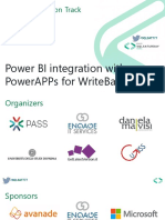 PowerBI integration with PowerApps for Write back