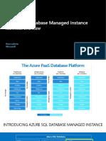 Azure SQL Database Managed Instance Technical Overview