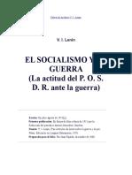 El Socialismo y La Guerra de Lenin(1915)