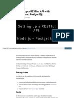 Restfull api con node.js