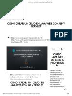 Cómo Crear Un CRUD en Java Web Con JSP y Servlet