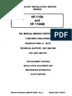 11 Dynarad Hf-110a Service Manual