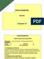 1-Introducción Espectrometría 22 Agosto 19