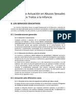 Protocolo de Actuación en Abusos Sexuales y Otros Malos Tratos a La Infancia