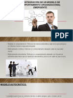 5.2 Integración de Un Modelo de Comportamiento Organizacional Emergente