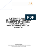 Protocolo y Guía de Prevención y Atención de Víctimas de Violencia Familiar y Sexual Para El Primer Nivel de Atención