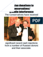 Russian Donations to Conservatives