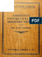 Karl Jaspers - Ambiente espiritual de nuestro tiempo.pdf
