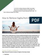 How to Remove Kapha from Body - Kapha Dosha Diet & Foods   Dabur