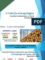 A Ciência Antropológica Conceitos Fundamentais e Teoria