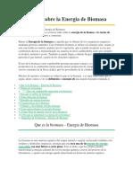 TODO Sobre La Energia de Biomasa