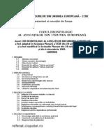 Codul Deontologic Al Avocatilor Din U.E