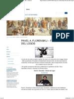 Pavel Florenskij - Filosofo Del Logos