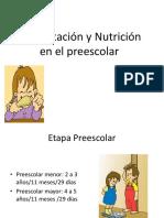 Clase 08 Alimentacion y Nutricion en El Preescolar