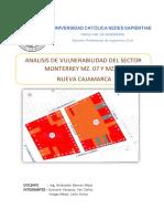 Análisis de Vulnerabilidad Nueva Cajamarca, San Martín