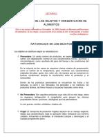 3. Lectura 2 Doc.pdf Naturaleza y Conservacion de Objetos