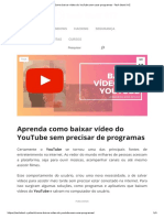 Como Baixar Vídeo Do YouTube Sem Usar Programas - Tech Start XYZ