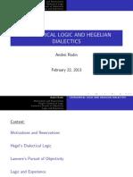 Categorical Logic and Hegelian Logic