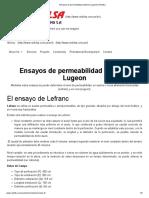 Ensayos de Permeabilidad Lefranc_ Lugeon _ Redrilsa