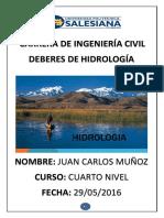Deberes de Hidrologia
