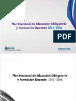 Plan Nacional de Educación Obligatoria 2012-2016