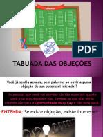 Tabuada de Objecoes (1)