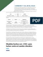 Dióxido de Carbono y Cal en El Agua