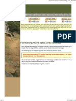 FORMATTING WORD FIELDS
