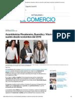 Asambleístas Rivadeneira, Buendía y Viteri No Cobrarán Sueldo Desde Noviembre Del 2019 _ El Comercio