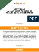 calculo de precios unitarios de obra civil y estructura