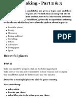 IELTS Exam Preparation - IELTS Speaking - Part 2 & 3