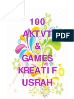 100 Aktvt _ Games Kreatif Usrah