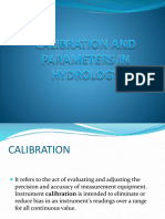 Calibration and Parameters in Hydrology
