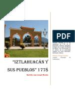 00 RELACIÓN Verdadera de IXTLAHUACAN 1774 Completa 2019 Aaaaa