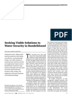 Seeking a viable solution to water security in Bundelkhand