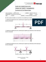 Guía de Ejercicios Nº03 - Diagrama de Corte y Momento.pdf