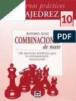 Gude Antonio - Cuadernos Practicos de Ajedrez-10 - Combinaciones de Mate, 2008-OCR, 50p