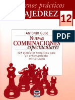 Gude Antonio - Cuadernos Practicos de Ajedrez-12 -Nuevas Combinaciones Espectaculares, 2010-OCR, 50p