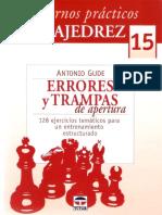 Gude Antonio - Cuadernos Practicos de Ajedrez-15 - Errores y Trampas de Apertura, 2012-OCR, 50p
