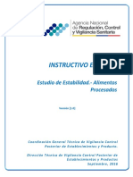Instructivo Externo Estudio de Estabilidad