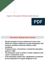 Vapour Absorption Refregiration Cycle