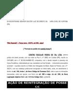 AÇÃO DE REINTEGRAÇÃO DE POSSE.doc