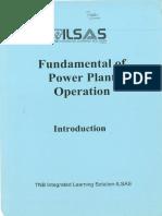 Fundamental of Power Plant Operations